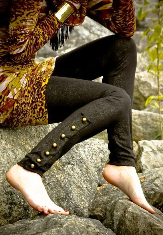 GOLD SPECKLED BUTTON TIGHTS by ErosDIY on Etsy
