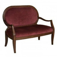 Powell Burnished Cherry Settee | Sofas