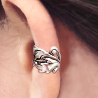 Baroque silver ear cuff earring jewelry -  non pierced earcuff for men and women 110912