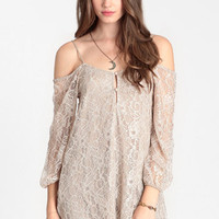 Woodland Hush Off Shoulder Dress - $46.00: ThreadSence, Women's Indie & Bohemian Clothing, Dresses, & Accessories