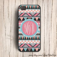 Personalized iPhone Case , Monogram iPhone Case , iPhone 5 Case , iPhone 4 4s case , wood case , Geometric Case , Aztec , tribal
