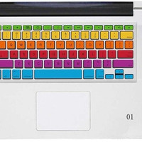 The rainbow 2  Keyboard sticker 1 mac decal mac book mac book pro mac book air Ipad