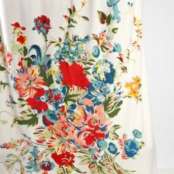 Romantic Floral Scarf Shower Curtain- Multi One