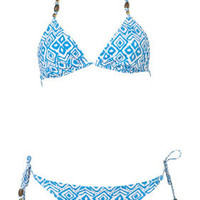Aztec Triangle Bikini - Swimwear  - Clothing