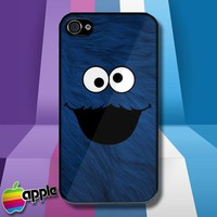 Cookie Monster Face Sesame Street iPhone 4 or iPhone 4S Case