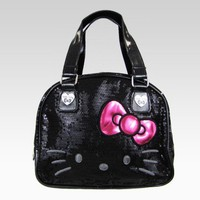 shop.sanrio.com - Hello Kitty Handbag: Black Sequin