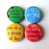 Buddy the Elf Pinback Button Set of 4
