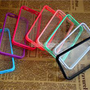 8pcs/lot TPU Bumper Frame Ultra Clear Back Cover Hard Case for iPhone 4 4G 4S