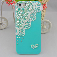Pearl lace flash shell Hard Case Cover For Apple iPhone 5,iPhone 5 Case, iPhone 5 Case, iPhone 5 Hard Case,  case-0247