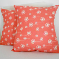 Coral Pillows Peach Home Decor Pillow Cover Set of 2 18 inches