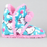 The Hello Kitty Super Plush Slipper Boots in Blue Clouds : Karmaloop.com - Global Concrete Culture