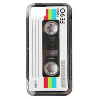 Vintage cassette tape label iPhone 5 cover from Zazzle.com