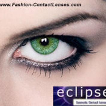 Eclipse Color Green Contact Lenses