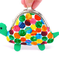 Cute green turtle clutch purse by michellechan1010 on Etsy