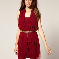 River Island | River Island Grecian Belted Dress at ASOS