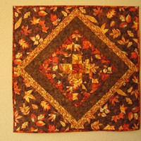 Fallen Leaves Table Topper, Quilted.. on Luulla
