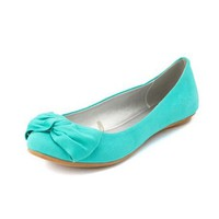 Twisted Bow Canvas Flat: Charlotte Russe