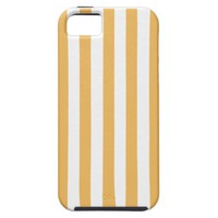 Beeswax Color And Vertical White Stripes Patterns iPhone 5 Cover from Zazzle.com