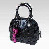 shop.sanrio.com - Hello Kitty Mini Black Patent Handbag
