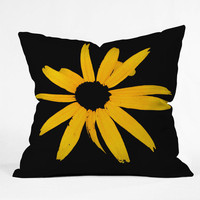 DENY Designs Home Accessories | Romi Vega Yellow Flower Throw Pillow