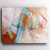 "Expressionist Abstract  Painting Original Acrylic Urban ""Sigh of Relief"""
