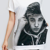 JUSTIN BIEBER New Star R&B Pop Rock Shirt White T-Shirt Women Shirt Women T-Shirt Men T-Shirt Unisex T-Shirt Screen Print Tee Shirt Size S