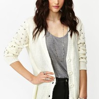 Spiked Knit Cardi