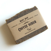 Coffee Scrub Soap - Exfoliating soap, Kitchen Soap, Vegan Soap, Unscented Soap, All Natural Soap