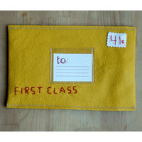Small Adventure First Class Felt Envelope