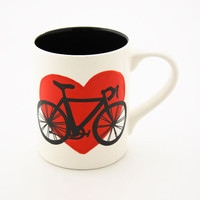 Bike Mug Bicycle in Red Heart