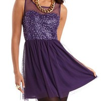 Sequins &amp; Mesh Party Dress: Charlotte Russe