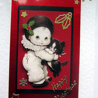 Happy Christmas Hand-Crafted 3D Decoupage Card - Happy Christmas (1289)
