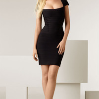 Herve Leger Cap Sleeve Pencil Dress 