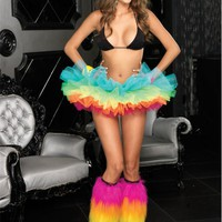 Rainbow Organza Tutu