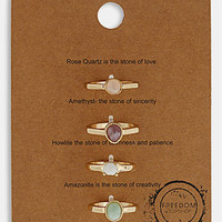 Topshop &#x27;Message&#x27; Rings (Set of 4) | Nordstrom