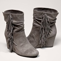 AEO Fringed Wedge Boot | American Eagle Outfitters