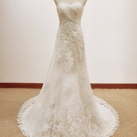 Vintage A LINE Lace Wedding Dress B.. on Luulla