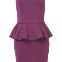 Scuba Peplum Pencil Dress - Dresses  - Apparel