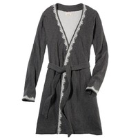 Aerie Lace Trim Robe | Aerie for American Eagle