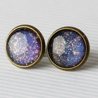 Galaxy Glass Earrings