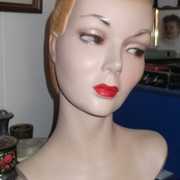 Rare 1920's-1930's Vintage Mannequin Head/Shoulder