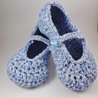 Mary Jane Slippers - Crochet - For .. on Luulla