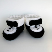 Tuxedo knitting shoes