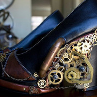 Gears and Pipes Light up Steampunk heels by HotAirBallonRide
