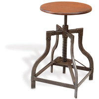 Foreside - Industrial Adjustable Stool