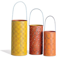 Foreside - Punchcard Lanterns s/3, Warm