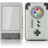 Amazon Kindle 3 / Keyboard Skin Cover - Retro SNES Super Nintendo Remote