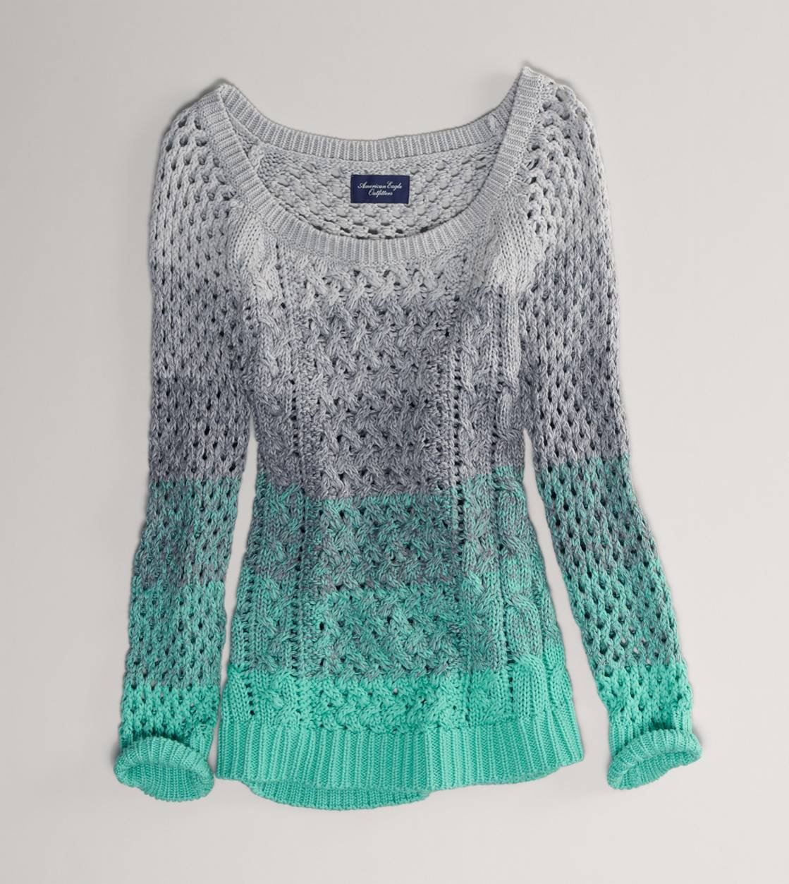 Ae ombre open stitch sweater american from american eagle