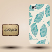 Iphone case, Iphone 4 case, Iphone 4s case, Iphone 5 case, unique handmade hard Plastic case, Peacock feathers