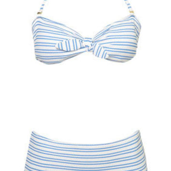White Texture Stripe Bikini - New In This Week  - New In